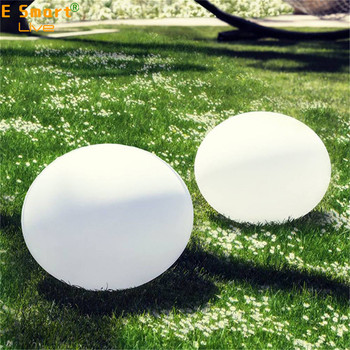 Solar Power Color Change decorative stone lamp plastic outdoor solar led stone light