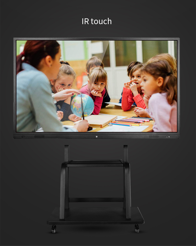 65'' 75'' 85'' 100'' Smart Electronic Whiteboard With Stand for Kids