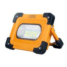 China supplier 50w mini led flood lights, 4000lm portable solar emergency flood light with battery