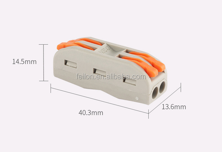 downlight wire connector replace spl-02 2 pole L N wire to wire reusable splicing connector PCT-2-2