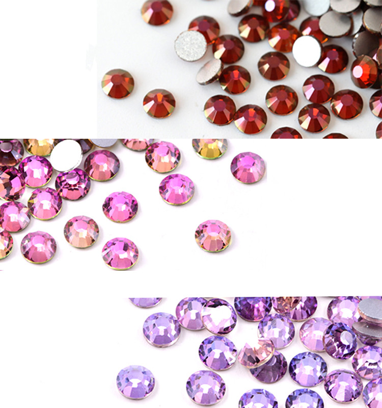 Top Quality Non Hotfix Strass Flat Back Rhinestones High Quality Back for DIY Nail Supplies