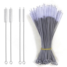 230mm stainless steel straw <strong>brush</strong> for bamboo straw cleaners/silicone straw cleaning <strong>brush</strong>/ custom coconut straw