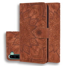 For samsung note <strong>10</strong> plus 2019 calf hide pu leather emboss flip wallet card holder <strong>mobile</strong> phone case cover BIA633
