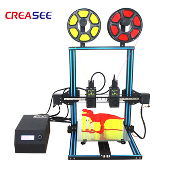 Household independent two-color dual nozzle 3D printer industrial grade high-precision DIY kit three-dimensional printing