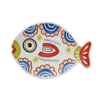 Fish Shaped Serving Cereal Candy Party Snacks Dish Bowl
