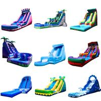 Popular giant adults race game inflatable obstacle course castle slide for kids commercial inflatable bounce