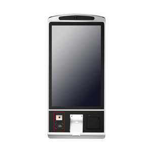Mini Electron Desktop Wall Mounted Android Bill Acceptor Bank Cash Payment Termin One Screen Kiosk with Card Reader