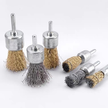 good quality crimped steel brass wire end brush for polishing and cleaning
