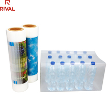 Plastic Raw Material <strong>PE</strong> 70/80micron Wrap Water Bottle Packaging Shrink Film