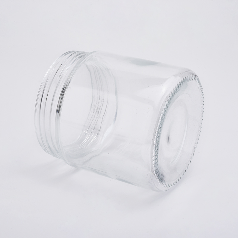 cylindrical glass candle holder glass storage jar