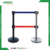 Telescopic type Multi-application crowd control barriers post  customized  logo for supermarkets guilde line