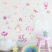 Nordic Style Simple Wall Stickers Cartoon Wall Decals for Kids Room Home Decoration