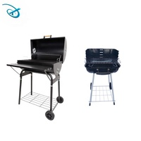 outdoor camping grill bbq smoker charcoal party oven