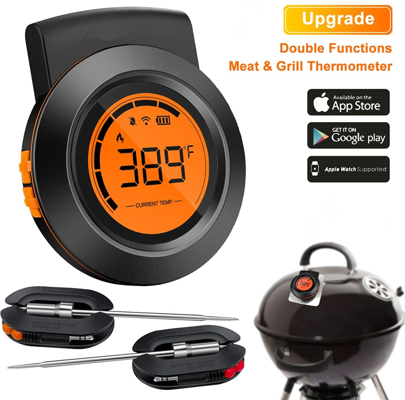 Updated Two-In-One Bluetooth BBQ Thermometer for Meat Cooking and Grill