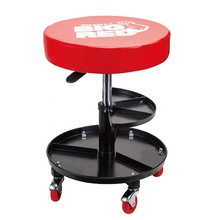 Pneumatic Car Repair Ajustable creeper Seat Workshop Round Stool Creeper Seat with Additional Tool Tray TR6201J