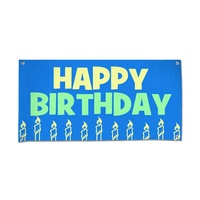 Popular Polyester Outdoor Personality Advertising Custom Celebration Gift Birthday Banner