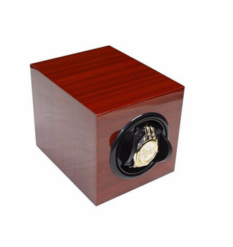 Single Cherry Lacquer Wood Automatic Watch Winder Green