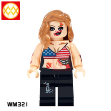 WM321 Zombie Girl The Horror Theme Movie MOC Building Block Super Heroes Gift Toys for Children
