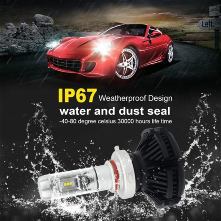 Custom x3 zes led head light low moq with wholesale price h7 h11single beam 9005 9006 9012 led waterproof light