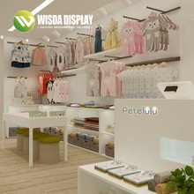 Luxury High End Kids Clothing Display Stand <strong>Shelf</strong> For Shopping Mall