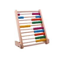 Wooden Abacus Toys, Wooden Bead Abacus,10 grades of Wood Abacus Beads AT11900
