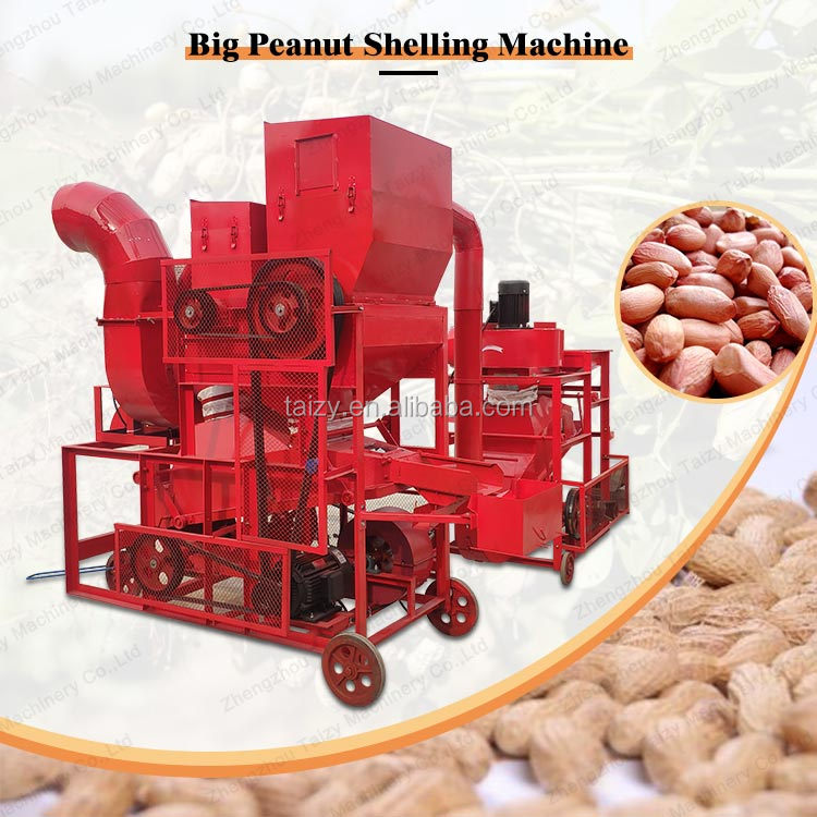 combined peanut sheller with cleaning equipment groundnut sheller plant