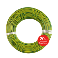 500v 1000c 6mm2 silicone insulated yellow and green earth ground wire