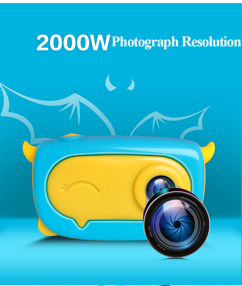 Factory Price 2019 Best Gift Children Mini Camera 2 Inch IPS Display Kids Digital Video Camera Toy For Kids