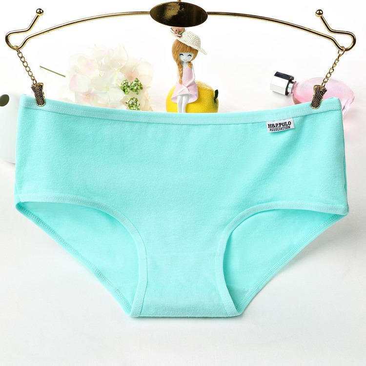 Colorful girls cotton women underwear hot panty photos solid color cotton panties