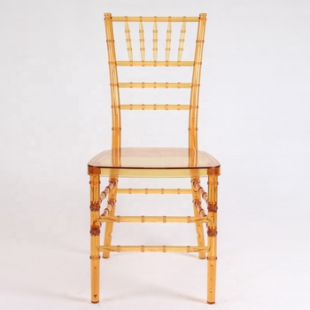 Stackable Resin Chiavari Chair For Wedding Party Banquet Equipment