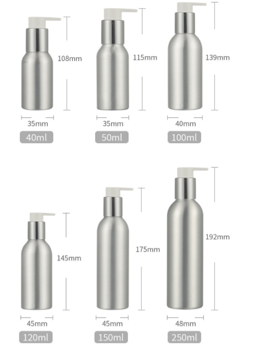 foam pump bottle travel soap bottle 30ml 50ml 100ml 120ml 150ml 250ml luxury empty aluminium bottle with screw childproof cap