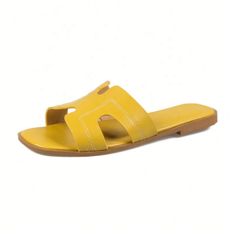 Attractive Design Light Weight Outdoor Flat Ladies h shape <strong>slipper</strong> for women