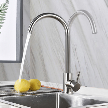 WRAS Certificated 304 Kitchen Faucet Sink Tap With Single Handle 304 Stainless Steel Kitchen Sink Faucet