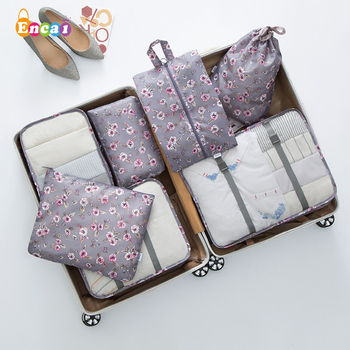 Encai Travel Clothes Storage Bags Organizer Amazon Hot Selling 7 In 1 Packing Cube Set