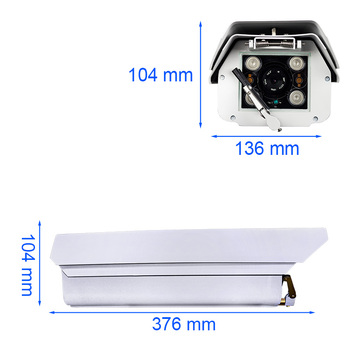 Dustproof Waterproof Outdoor Metal Case IP Camera 1080P Working on High Temperature Sunlight Area