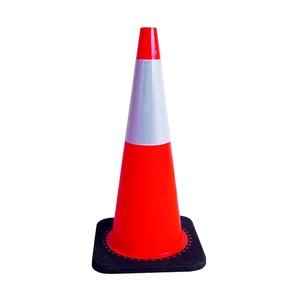 G091004 Factory Price 700mm Colored Reflective Heavy Rubber Base Traffic PVC Safety Cone