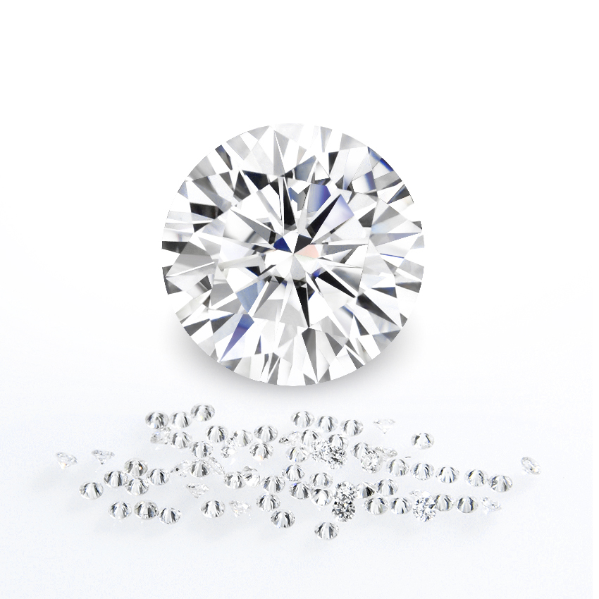 Moissanite price per Carat Price for Brilliant <strong>cut</strong> 1ct 6.5mm EF color VVS clarity