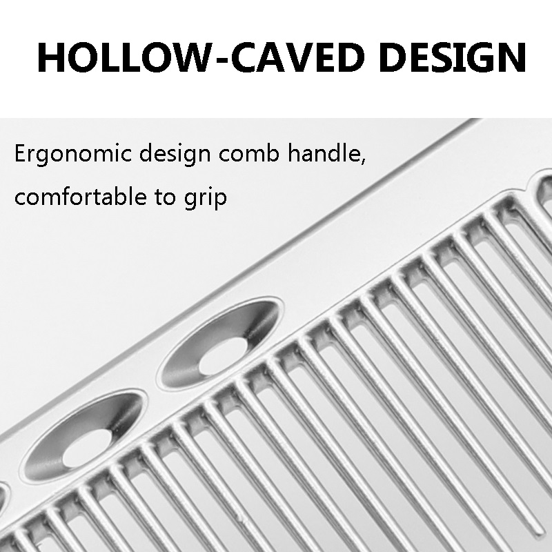 Beautytec Professional Combs Hairdressing New Aluminum hair comb