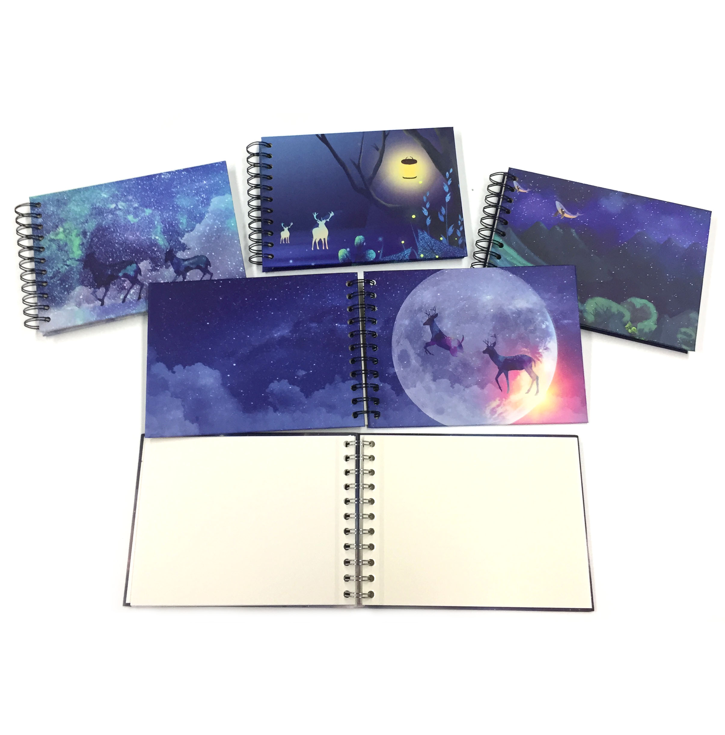 Starry Sky Christmas ReinDeer Handmade 5.8'' x 8'' Spiral Self Adhesive Photo Album