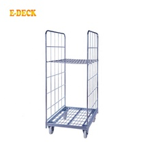 4 바퀴 china 싼 a frame foldable 물류 창 고 cargo transport 아연 metal steel european pallet 트롤리 카트