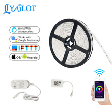 smart phone remote control support voice control multi-color LED smart wifi light strip <strong>RGB</strong>