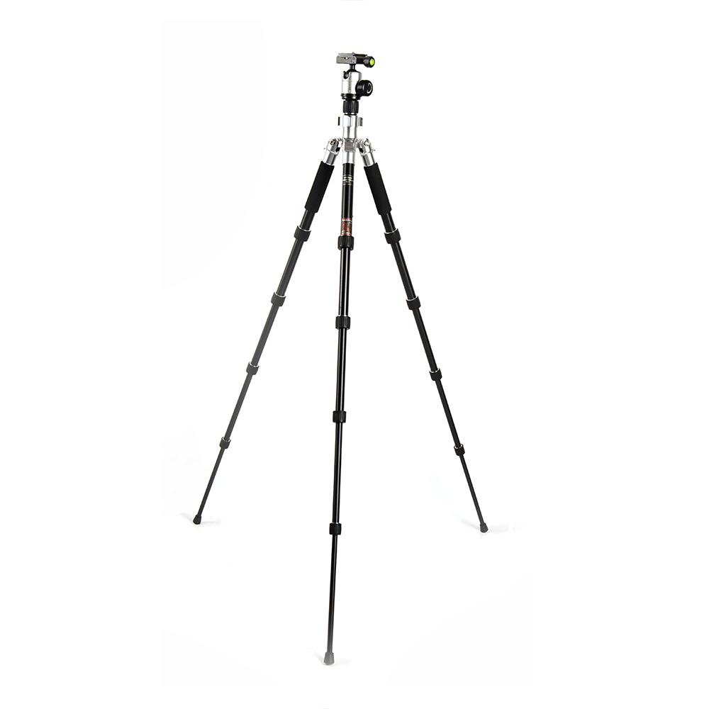 Sunrise High Quality Aluminum Alloy Universal 5kg Load Foldable Tripod for Smartphone Camcorder Video DSLR Camera