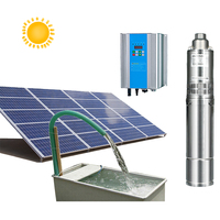 Anern high head submersible 300 meter deep well solar water pump