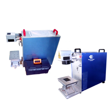 Cabinet/Desktop/Portable Automatic Lifter 20W 30W 50W Fiber Laser Marking Machines For <strong>Flat</strong> Tube Metal Nonmetal