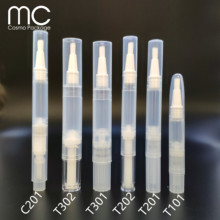1.5ml,2ml, 2,5ml,4ml,4.5ml Cosmetic Pen Clear Round Twist Empty Tube Pen With Brush