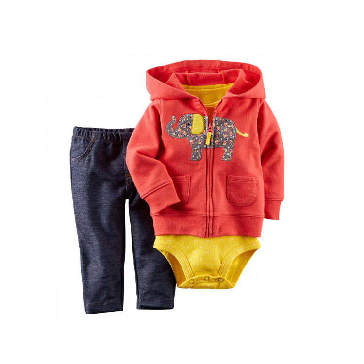 <strong>Spring</strong> and Autumn Baby Girl Boy Romper Clothing Set Pants <strong>3</strong>-Piece Set