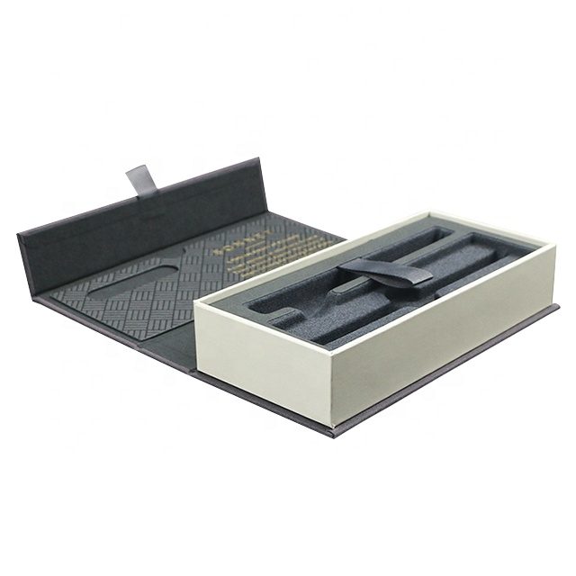 Lid and Base Business Pen Packaging Box Luxury Custom Logo Foil Stamping