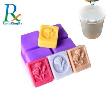 Condensation color liquid silicone rubber to make soap molds