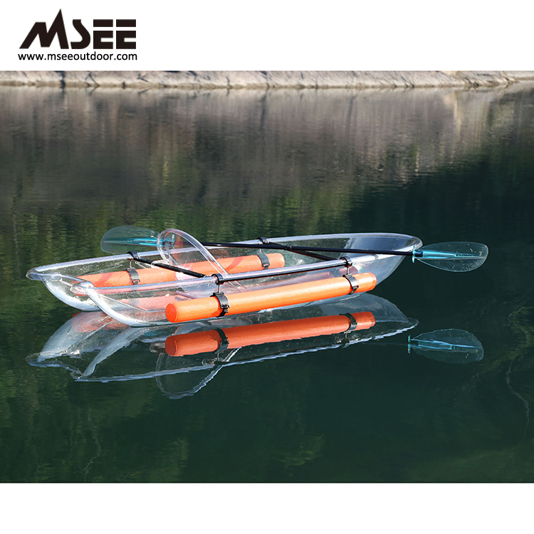 Transparent polycarbonate transparent polycarbonate plastic Transparent kayak for two person