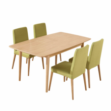 Dining room <strong>furniture</strong> Modern designed Rectangular solid wood legs Extension Dining Table